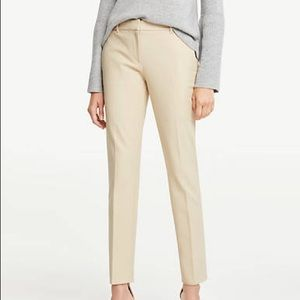 Beige Curvy Ankle Pant in Dense Twill | Ann Taylor
